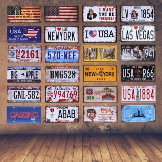 Number Plate Style Signs Tin ( 31cm x 16cm)
